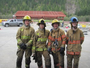 This is the team Ben worked with throughout the year. The photo is from their day long adventure at the North Bend firefighter training center.