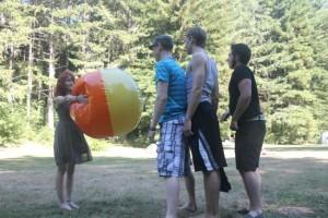 More beach ball fun...