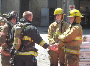 Many experienced firefighters assisted in all the training.
