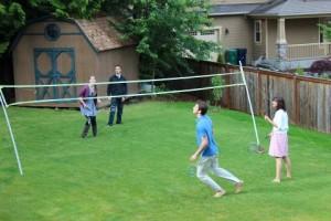 Graduation party badminton!