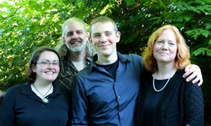 Lots of time for celebratory family photos!  Aadrial came up from Portland to support Ben and share the weekend with us.