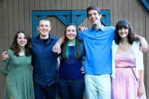 Years and years of wonderful homeschooling experiences with a lovely and meaningful culminating party for Reilly, Ben, Sarah, Tanner, and Taylor.