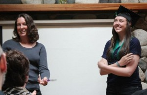 Larisa and Sarah share the back story about the idea behind the graduation spoons.